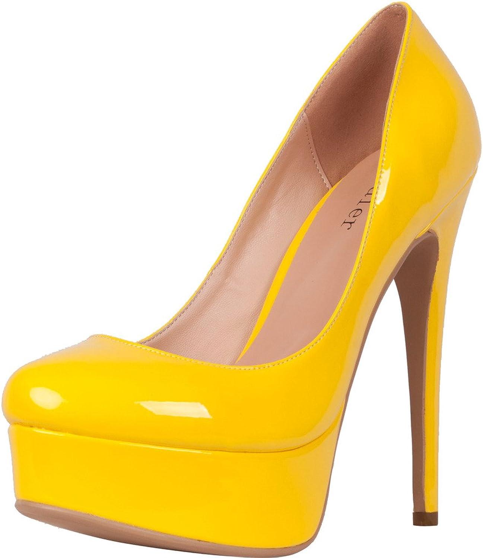 Calaier Womens Platform 15CM Stiletto Wedding Prom Party High Heel Pumps shoes