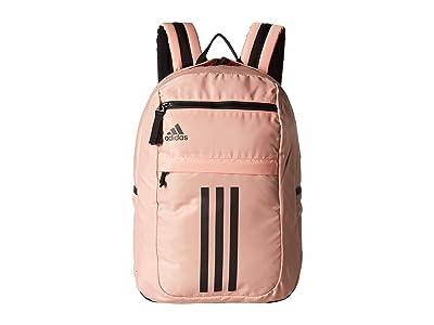 adidas League 3 Stripe Backpack (Glow Pink/Black) Bags