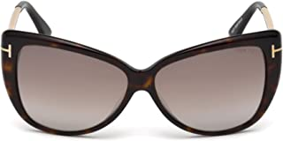 FT0512 52G Dark Havana Reveka Cats Eyes Sunglasses Lens...