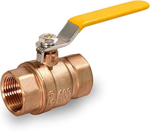 lowest MIDLINE VALVE 800U034 Lead Free Full Port popular Forged Brass Ball Valve with Female Threaded sale IPS Connections, 1/2'' sale