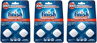 Finish In-Wash Dishwasher Cleaner: Clean Hidden Grease & Grime, 3 ct - 3 pack
