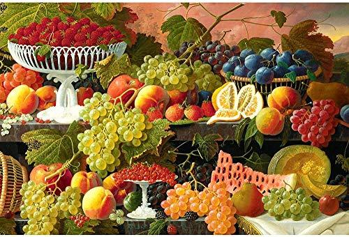 Pintar por Numeros Adultos Niños para DIY Pintura por números con Pinceles y Pinturas Decoraciones para frutas frescas Decoración de regalo de festival-16x20inch