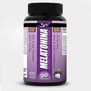 Melatonina Hormona del sueño 90 comprimidos masticables sabor naranja Descanso Dormir bien Jet lag