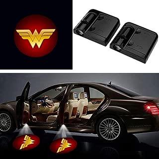 3D Ghost Shadow Emblems Wireless Door Logo Shadow Ghost Lights (2pcs) fit Ford Focus 2 Fiesta F150 Mondeo Transit Mustang etc (Red Wonder Women)