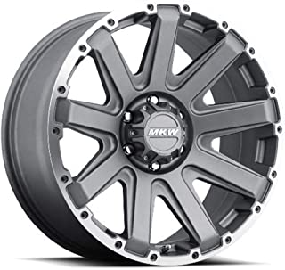 MKW Offroad M94 Satin Grey Wheel Finish and Machined Outer Ring (18 x 9. inches /6 x 135 mm, 10 mm Offset)