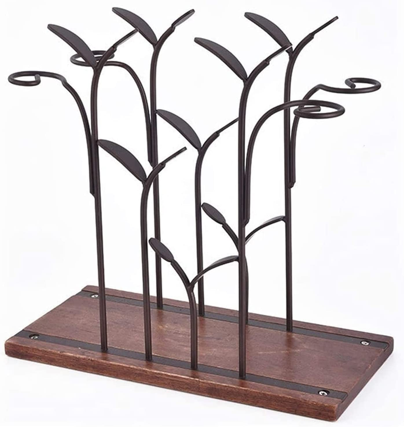 Limited price ZCX Wine Holder Stylish Rack Standing Forest shopping Leaf Wire Iron