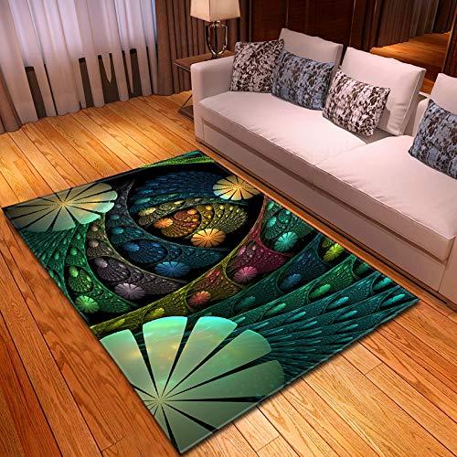 LGXINGLIyidian Alfombra Hermoso Arte Rayado Pintado Nórdico Decoración para El Hogar Impresa En 3D Alfombra Suave Antideslizante para Niños F901H 120X180Cm