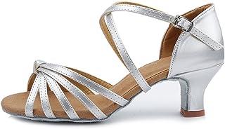 Roymall Womens Satin Latin Dance Shoes Ballroom Salsa Tango Performance Shoes,Model AF433