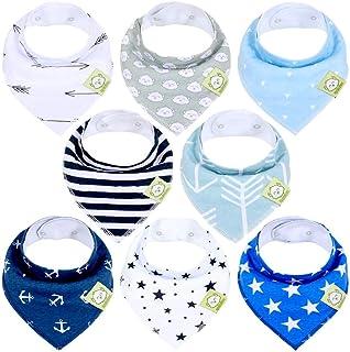 KeaBabies Baby Bandana Drool Bibs For Boys - Super Absorbent Bandana Bibs - Baby Drool Bib - Teething Bibs - Handkerchief ...