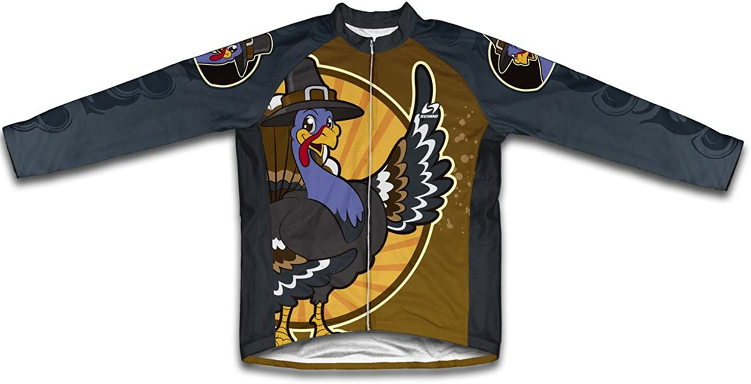 Thanksgiving Turkey Long Sleeve Cycling Jersey for Men