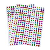 Lvcky 840paia orecchini sticker 3D Gems sticker Girls...