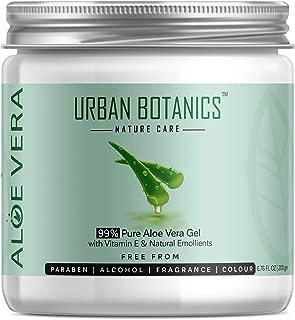 UrbanBotanics 99% Pure Aloe Vera Skin/Hair Gel (Paraben Free), 200g