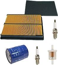 Euros Air Filter with Pre Filter + Oil Filter + Fuel Filter + 2Pcs Spark Plug Replace Honda GX610 GX620 GX670 17210-ZJ1-842 17210-ZJ1-841 17218-ZJ1-840 20HP V-Twin Engine
