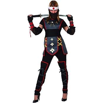 Atosa - Disfraz de guerrero ninja para mujer, talla M (38-40 ...