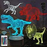 Lámpara de dinosaurio 3D