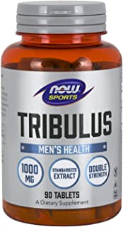 NOW Sports Nutrition, Tribulus (Tribulus terrestris) 1,000 mg, Double Strength, Men's Health, 90 Tablets