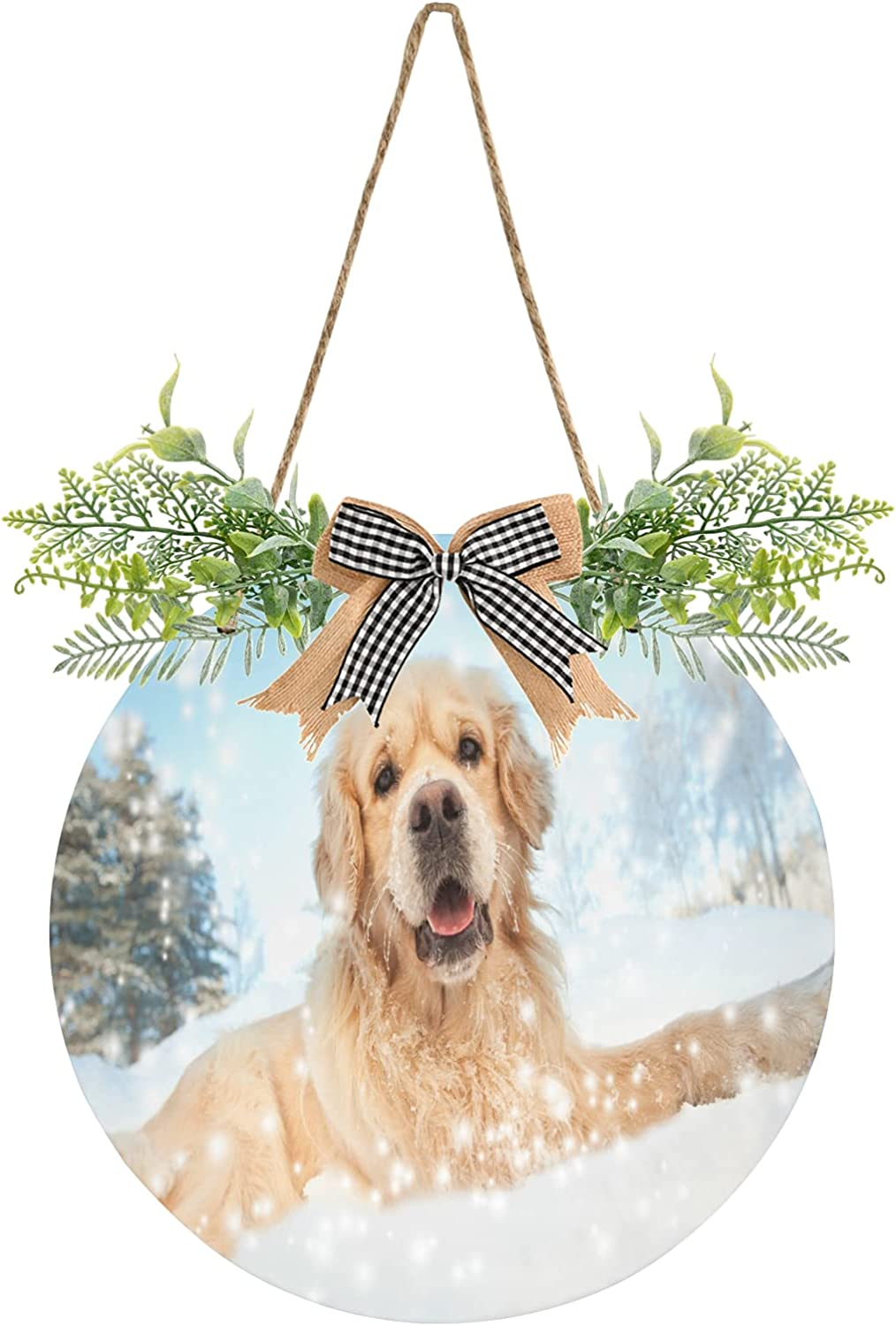 Fort Worth Mall Winter Lovely Snow Dog Door Cute Animal Sign Front Recommendation Hanging