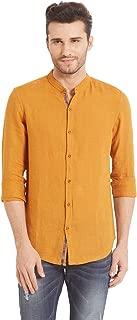 Spykar Men's Solid Slim Fit Linen Casual Shirt