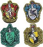 4 parches de Harry Potter House of Gryffindor House Hogwarts, con gancho y bucle en la parte trasera de 10 x 8 cm, a todo color, para abrigo, chaqueta, gorra, sombrero y mochila.