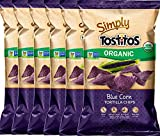 Tostitos Organic Blue Corn Tortilla Chips USDA Organic Non GMO Gluten Free 8.25 oz (6)