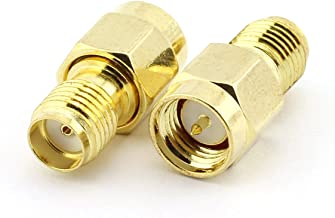Maxmoral 2PCS SMA Male to SMA Female Connector RF Coax Coaxial Adapter
