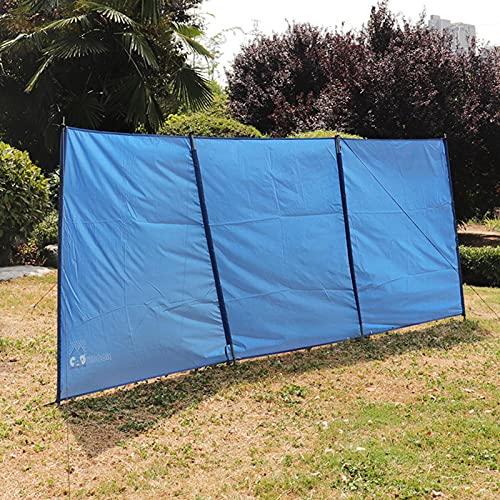 Abri de pare-brise de plage de brise-vent de camping, 169,29 x 51,18 pouces, brise-vent pliable, pare-vent de camping en plein air, bouclier de confidentialité de caravane d'hiver pour barbecue