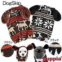 ブラウン M 犬用 プランサースヌード:S,M,Lサイズ トナカイ レインディア 小型犬 犬 PUPPIA パピア ペット ドッグ 簡単装着