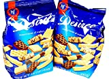 Hans Freitag Desiree Assortment of Wafers Gourmet Cookie Snacks Imported from Germany 2 Pack x 14 oz / 400 g each)