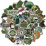 ZNMSB 50 Pegatinas de Graffiti de Poder Militar, Maleta, Maleta, Carro, Maleta, portátil, Pegatinas Impermeables