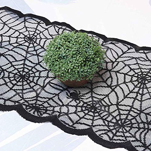 YRCBHJ Halloween Lace Decoration Lace Table Runner, Halloween Party Table Decoration