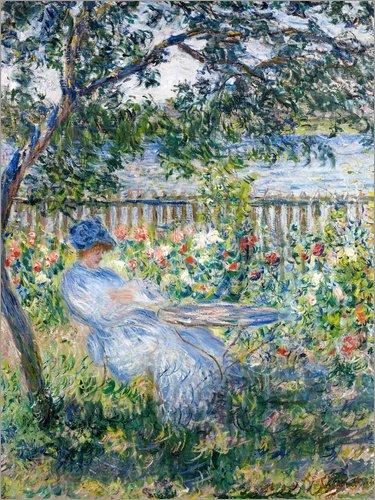 Póster 50 x 70 cm: La Terrasse (The Terrace) de Claude Monet - impresión artística, Nuevo póster artístico