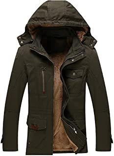 Saoye Fashion Cappotto Invernale da Uomo Giacca Termica Parka Invernale Giacca Parka Giovane Abiti da Festa Giacca Inverna...