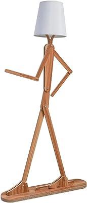 Lampadaire, moderne style nordique Creative Accueil Lampadaire en bois, avec bricolage Forme réglable lampe de nuit, propice Chambre, Salle à manger et Salon