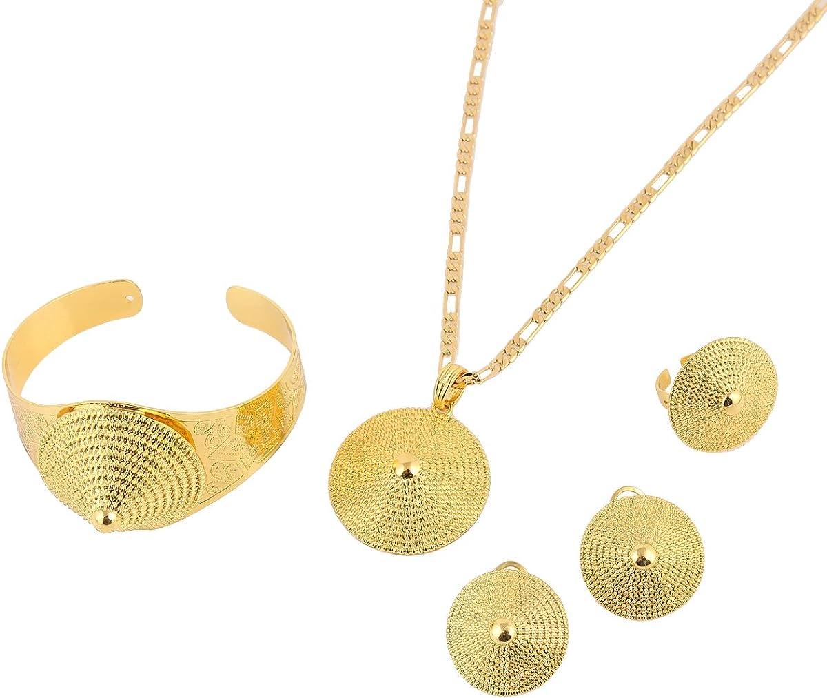 2016 Ethiopian Cross Choker Necklace Earrings Set Jewelry Eritrea Wedding Bridal Set Jewellry