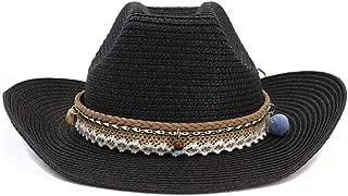 Bin Zhang Summer Women Beach Cowboy Hat Sun Hat Visor Fedora Hat Hair Ball Fashion Tassel Color Straw Hat Women