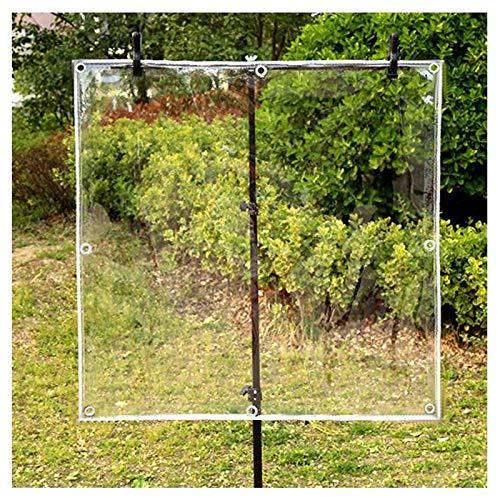 Lona Transparente Impermeable, Grueso Cubierta De Lona Para Pabellón Tienda Piscina De Barco Propósito General, Resistente A Los Rayos UV Prueba Lágrima, 450 G / M² ( Color : Clear , Size : 1.2x2.5m )