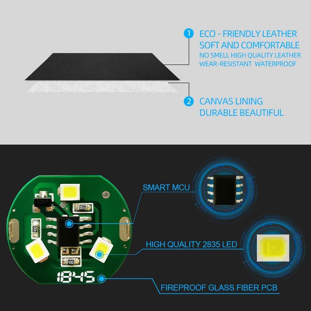 DOSNTO Poubelle de Voiture Intelligente LED Poubelle /étanche Sac /à ordures c/ôt/é Passager en Cuir Artificiel Poche de Rangement /étanche Voyage r/éutilisable