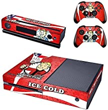 New Vinyl Decals Fallout 4 Skin Sticker for Xbox One Game Console and 2 Controllers Skins Cover of ICE COLD Vault Boy Approved Designed