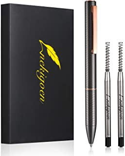Nekigoen Ballpoint Pen with Box for Men Women,Luxury Stainless Steel Retractable Pen Executive Home Office Use, and 2 Extr...