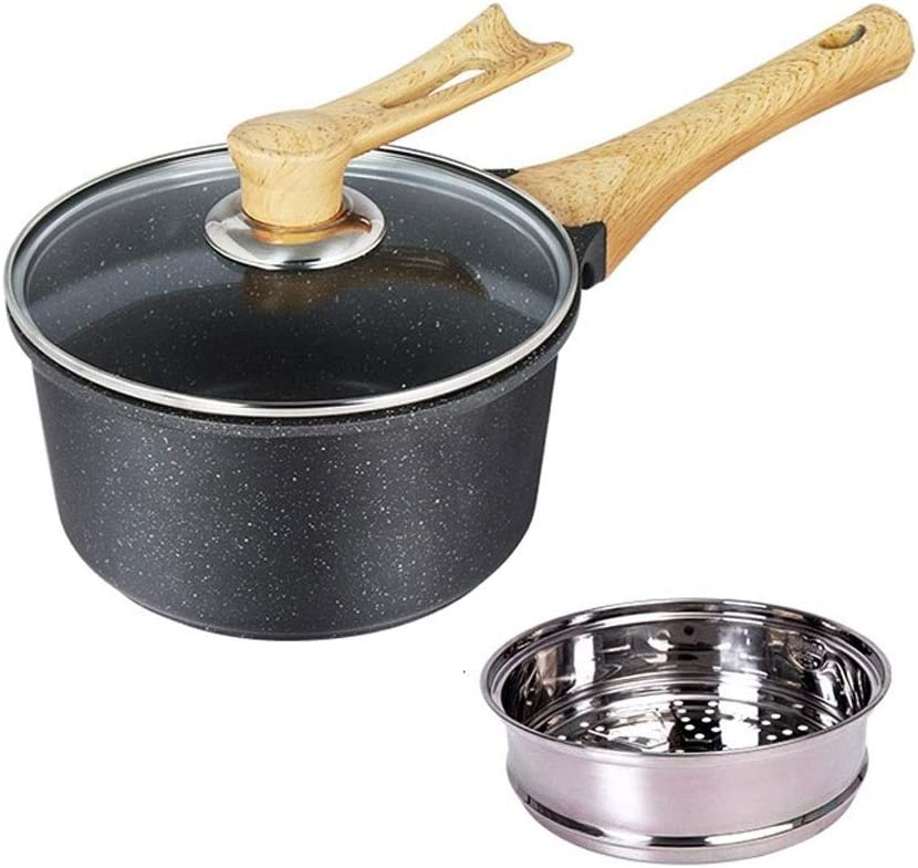 Milk Fort Worth Mall Product Pan With Wooden Non-s Handle Multifunctional Anti-scalding