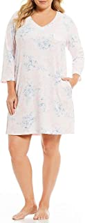 Women's Plus Size Brushed Waffle-Knit Short Nightgown