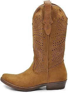 IF Fashion - Botas de tobillo Camperos Texani Primaveral de verano con punta para mujer LW319