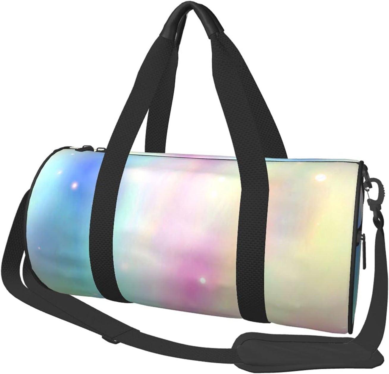 NCHOME Duffel Bag Wonderful Rainbow Sports Round Bags Low price Virginia Beach Mall Yo Texture
