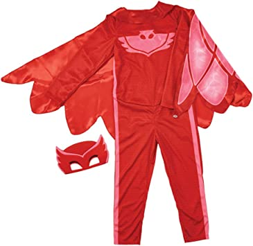 PJ Masks Disfraces, color rojo, 4-6 años (Bandai 24602)