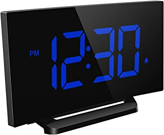 Mpow デジタル時計 目覚まし時計 大型LED 電源式 アラーム 三段輝度調節 置き時計 卓上時計 大音量 おしゃれ メタル台座 部屋/オフィス/台所用 18ヶ月保証付き