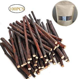 Dproptel - Palitos de madera de manzano de roer y jugar para