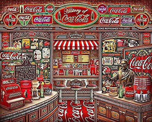 Z_PDG Pintura Al Óleo para Niños Puzzle Color Challenge Puzzle 6000 Piezas Tienda De Coca Cola Juego De Juguetes Educativos para Niños Decoración De Pared DIY