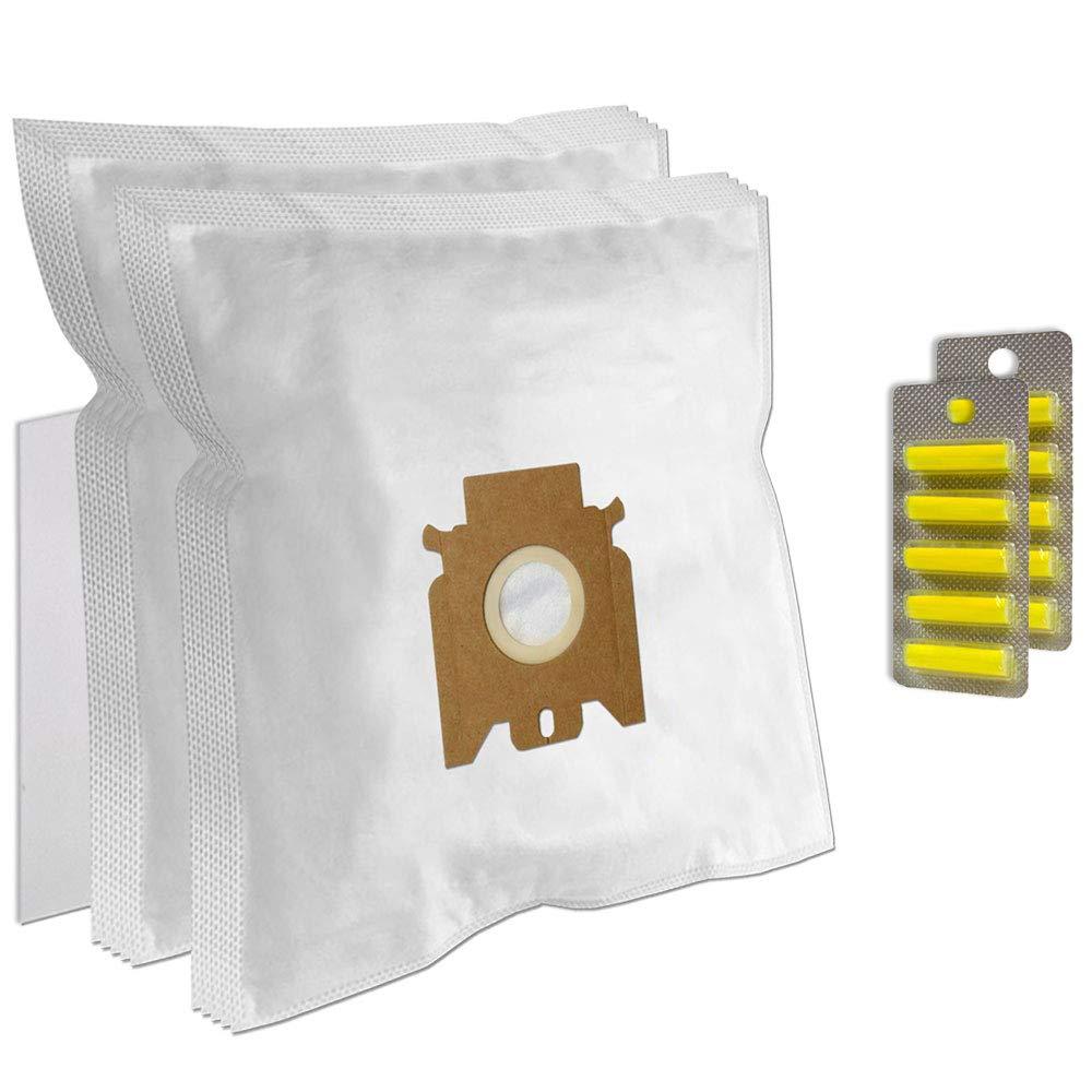 Set 10 Ambientadores + Filtro + 10 Bolsas de aspiradora para Miele Allergy HEPA Polar Ice - S4280, S4281: Amazon.es: Hogar