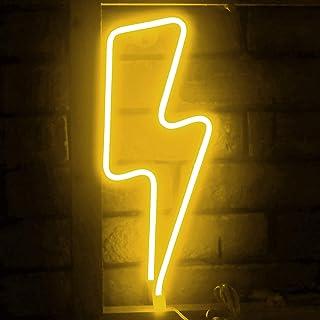 Funpeny LED Neon Decorative Light, Neon Sign Shaped Decor Light, Lightning Shape Indoor Decor for Halloween Decoration Liv...