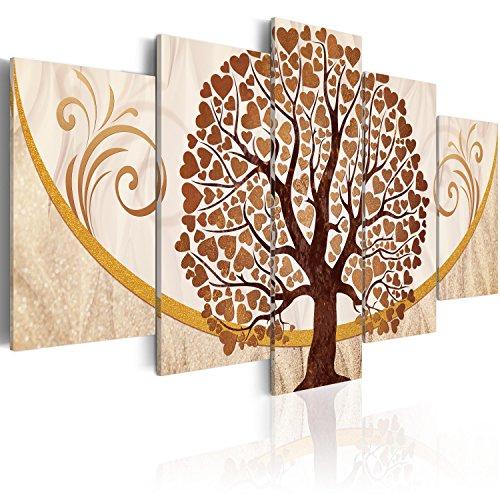 murando Quadro 200x100 cm 5 Pezzi Stampa su Tela in TNT XXL Immagini Moderni Murale Fotografia Grafica Decorazione da Parete Albero Amore Ornamento Astratto b-C-0073-b-p